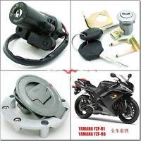 Motorrad Schloßsatz Schlüssel Zündschloß Schlösser für Yamaha YZF R1 R6 02-14