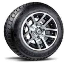 "Fairway Alloys 10"" Illusion Golf Cart Car Wheel Efx 215-65-10 Pro Rider Radial"