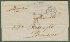 NAVIGAZIONE. Lettera da Marsiglia a Livorno del 1856