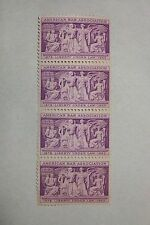 $0.03 Cents American Bar Association Stamps Block of 4