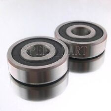 2PCS 6200-2RS 6200RS Deep Groove Rubber Shielded Ball Bearing (10mm*30mm*9mm)