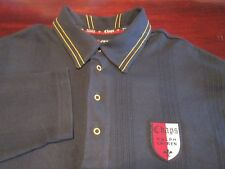 CHAPS BY RALPH LAUREN NAVY SHIRT WITH LOGO SIZE L