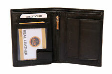 High Quality Leather Money Wallet Purse with card Slots for Men Gents - Black