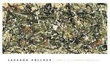 Number 8, 1949 by Jackson Pollock Art Print Abstract Museum Poster 30x50