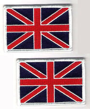 CAFE RACER UNION JACK BRITISH IRON-ON PATCH SET OF 2 UK FLAG PATCH