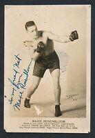 1930's Max Rosenbloom Famous American Boxer VINTAGE Signed Studio Photo