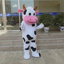 Cow Mascot Costume Halloween Cosplay Party Dress Adult Size EPE Free Shipping