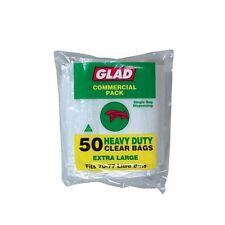 Glad 70l Heavy Duty Clear Garbage Bags - 50pk
