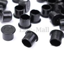 1000Pcs 11mm Plastic Black Tattoo Steady Wide Base Ink Cup Cap Holder Supply Set