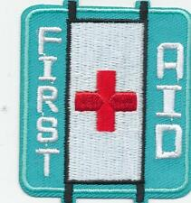 Boy Girl Cub FIRST AID Stretcher class training Patches Crests Badge GUIDE SCOUT