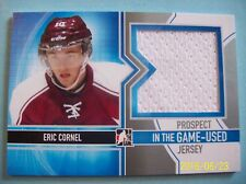 """2013-14 ITG Used """"Prospect Game-Used Jerseys Silver"""" # PJ-02 Eric Cornel RC!"""
