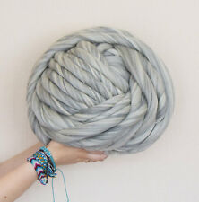 Super chunky 100% merino giant wool  natural grey/cream blend, arm knitting,1kg