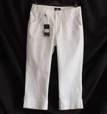 Women's Straight Leg Cotton Blend High Capri, Cropped Trousers