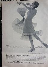1955 Van Raalte Womens Slip No. 7878 Lingerie Chantilly Lace Original Fashion Ad