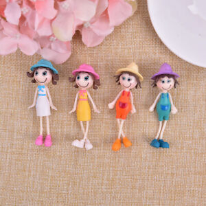 1PCS Small Summer Sunshine Girls Doll Cartoon Figurines Gardening OrnamentsS^lk