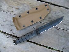 Valhalla Custom Kydex Sheath Ka-Bar 1256 Short Kabar  Kydex COYOTE SHEATH ONLY