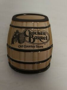 Vintage Metal Tin Cracker Barrel Old Country Store Barrel Empty Good Condition