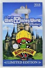 Disney Piece of History 2018 Muppet Vision 3-D Kermit Pin Of Month LE 1500 NEW