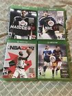 Lot of Xbox One games— FIFA 16, NHL 17, Madden 18, NBA 2k18