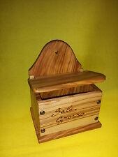 PORTA SALE SALIERA - in legno di ulivo - vecchio stile - sale sempre asciutto