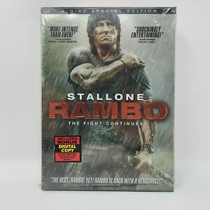 Rambo (DVD, 2008, 2-Disc, Special Edition) With Slipcover - New Sealed