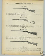 1901 PAPER AD Globe Air Rifle BB Gun Smith & Wesson Revolver New Departure