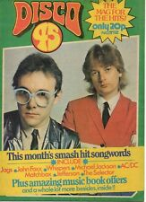 The Buggles on Disco 45 Magazine Cover 1980 The Ramones  Matchbox  Rupert Holmes