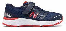 Новый баланс детский 680v5 большие дети мужской туфли темно-синий с красным