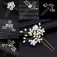Crystal Rhinestone Bride Bridesmaid Hair Accessories Pearl Hair Pin Clip New