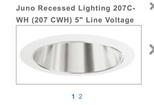 Juno Lighting Group 207C-WH Recessed Housing Downlight Cone Clear Alzak with ...
