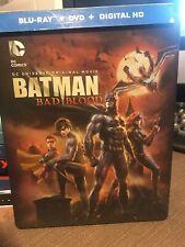 BATMAN BAD BLOOD Blu-ray/DVD/Digital HD STEELBOOK Limited Target Exclusive