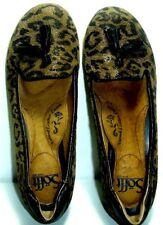 6cbaff89e93 Sofft Women Leather Shoes Animal Print Wedge Heel Natural Leather Size 6  1 2 M