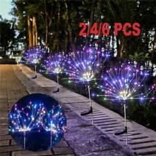 4X120LED Solar Powered Firework Starburst Stake Light Garden Outdoor Path AU NEW