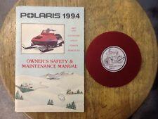 1994 Polaris Snowmobile Owners Manual