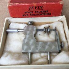Vtg Jewelry Watchmaker Repair Tool LEVIN Pivot Polisher Straightener w Orig Box