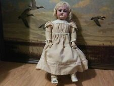 """22"""" Antique German Doll by Handwerck Mold #79 Size 11 shoes, dress, under,gown."""