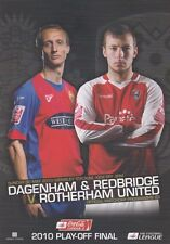 Play Off final 2010 Dagenham V Rotherham programa Mint