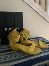 Rudsak Yellow Mustard Ankle Cuff Leather Sandals 38