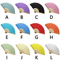 Chinese Style Hand Held Fan Bamboo Paper Folding Fan Party Wedding Decor L