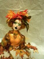 "OOAK ART DOLL WITCH, ""Autumn"" by Gerri Ridge, Halloween or Fall decor'"