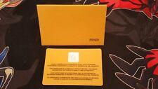 Genuine AUTHENTIC Fendi Authenticity Certificate Made in Italy w/ envelope