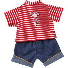 Schwenk Puppenkleidung Ringelshirt mit kurzer Jeans für 36 - 40 cm Puppen