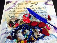 HEALING SPELL KIT~Good Health bracelet Spell kit~~Wicca Magic~TALISMAN~AMULET