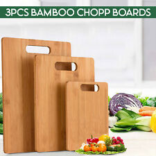 More details for chopping board - small medium large size bamboo cutting boards butcher block set