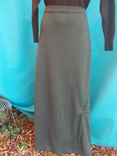 ANIMALE LADIES GREY KNIT WOOL MIX MAXI SKIRT-SZ M 12-14 VGC