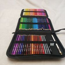 73 Piece Colored Pencils Drawing Art supplies and w/ Pencil Sharpener and Case