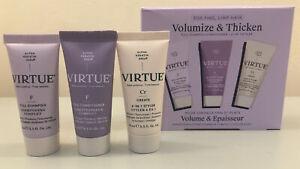 VIRTUE Repair Volumize & Thicken Shampoo Conditioner Styler Travel Set SPACE NK