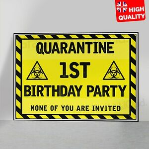 Personalised Birthday Lockdown Decoration Children Poster | A5 A4 A3 A2 A1 |