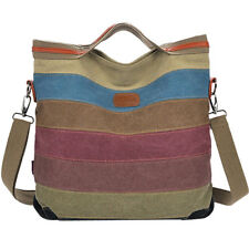 Canvas Ladies Handbags Hobo Bag Striped Summer Crossbody Purse Satchel Tote 2018