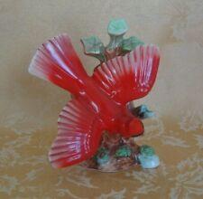 New listing Vintage Cardinal Red Bird Porcelain Figurine